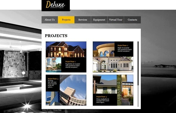 Interior Design Website Template in Black