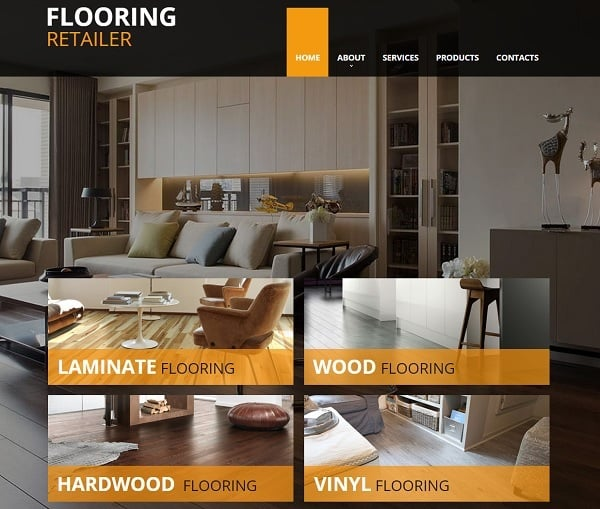 Flooring Company Website Template