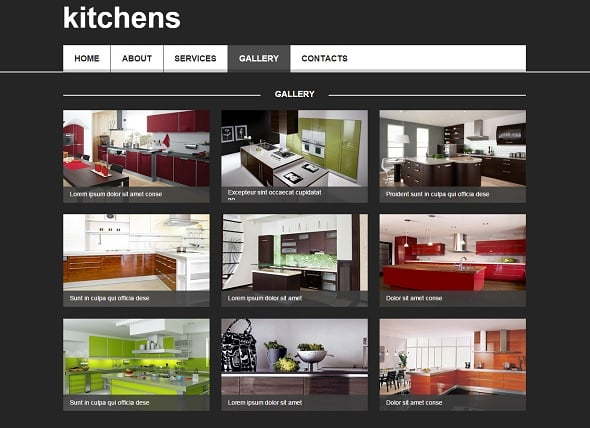 Kitchen Interior Design Website Template
