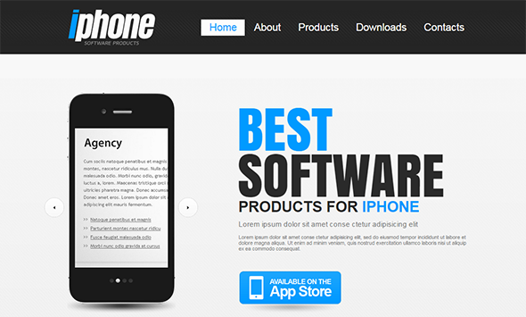 create app website template