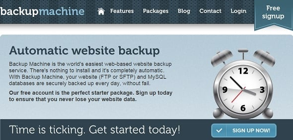 Website Backup Tips - Backup Machine