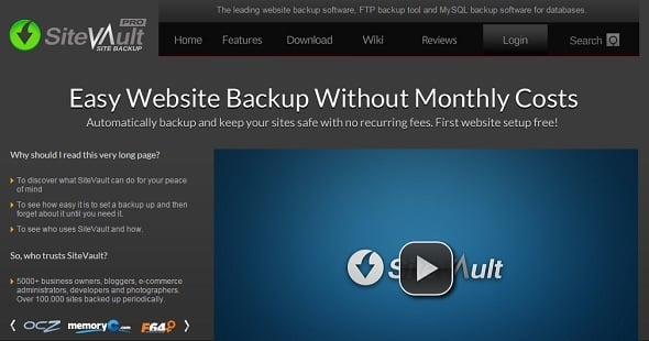 Website Backup Tips - SiteVault