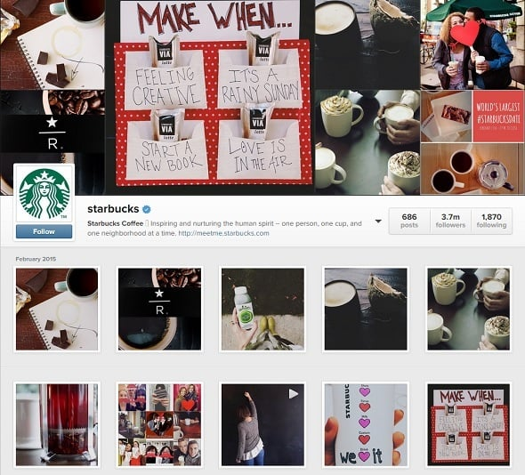 $0 Marketing Budget - Starbucks' Instagram Account