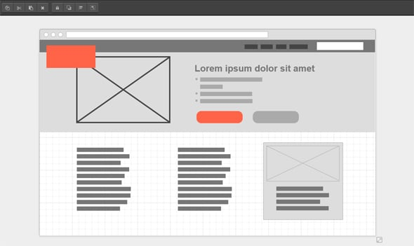 UX Design Tools Wireframe