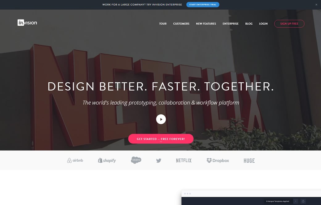 UX design tools - invision
