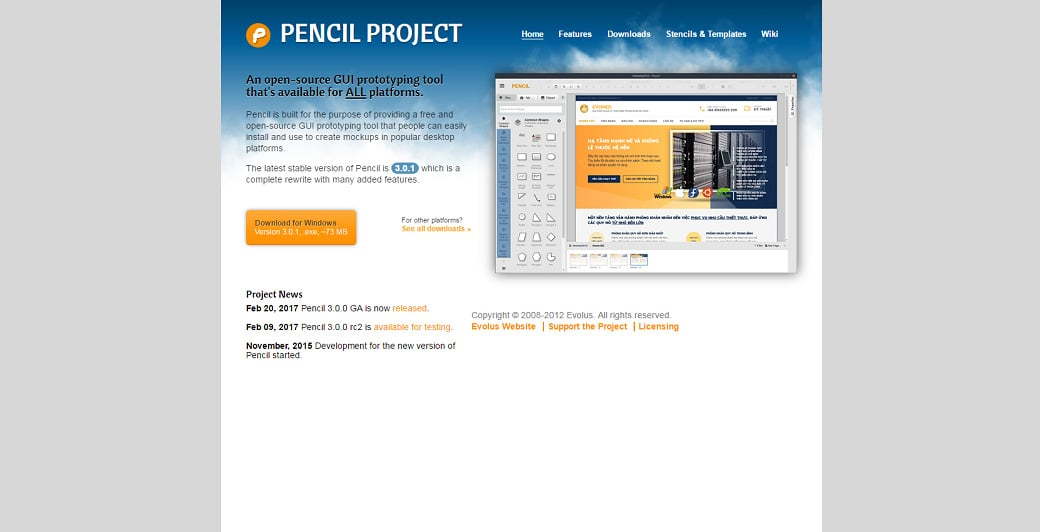 UX design tools - pencil
