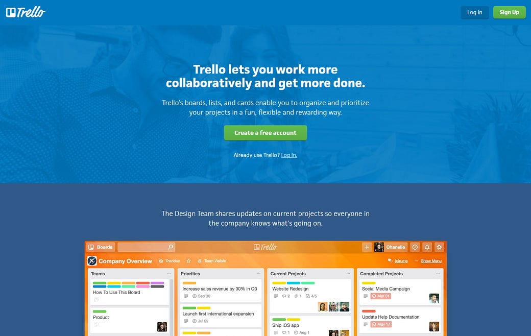 UX design tools - trello