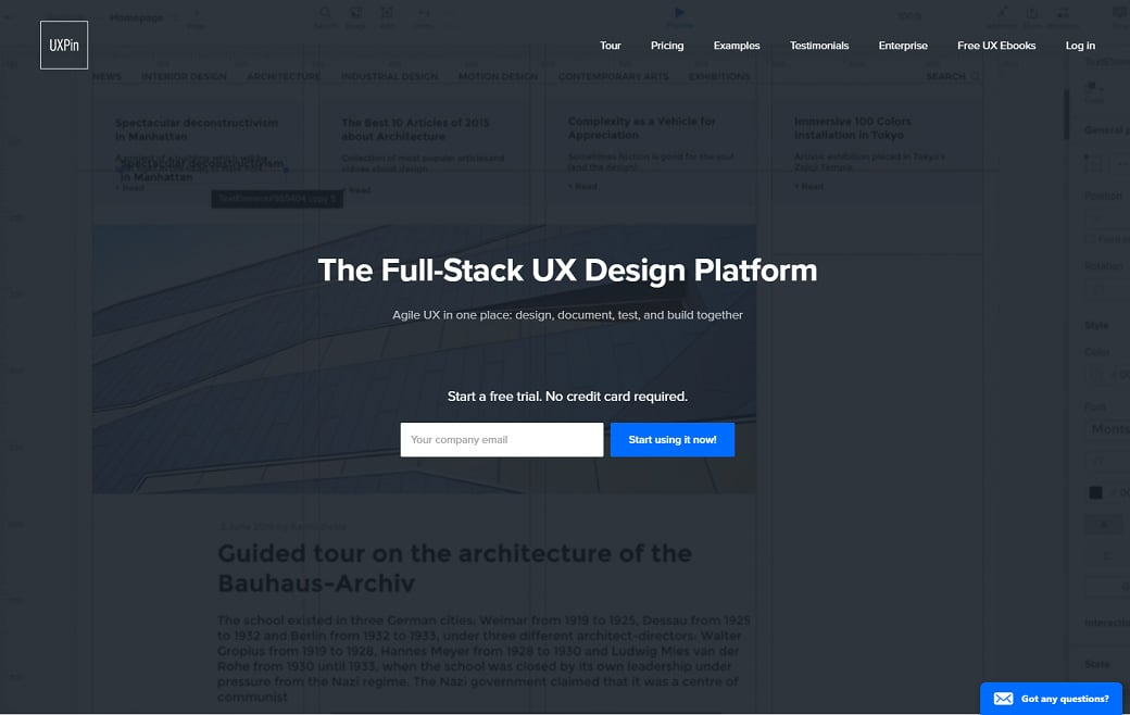 UX design tools - pin