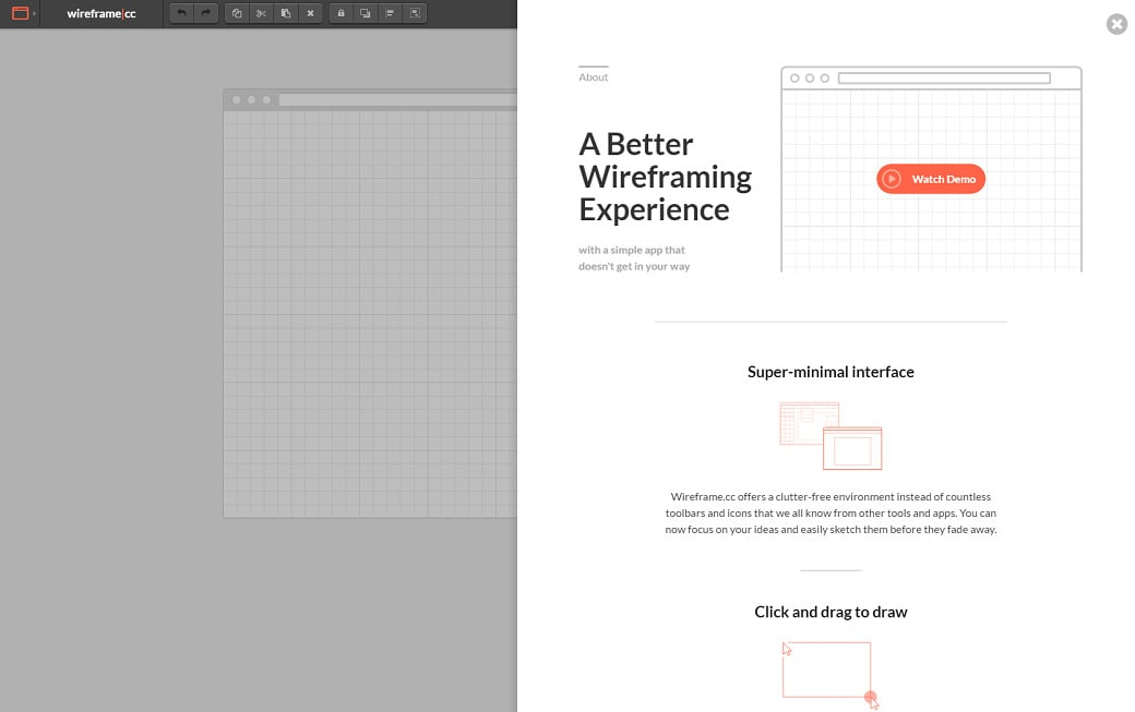 UX design tools - wireframe