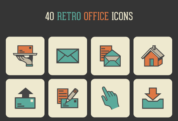 Free Vector EPS Pack of Flat Office Icons