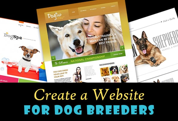 Create a Website for Dog Breeders