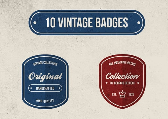 Web Design Ledger - 10 Free Vintage Retro Badges