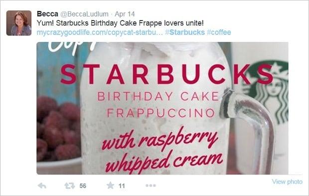 Brand Advocates - BeccaLudlum Twitter