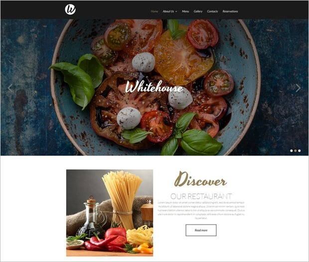 MotoCMS 3.0 Responsive Website Templates - Restaurant