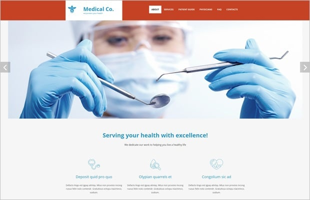 Responsive Website Templates by MotoCMS 3.0 - Medical