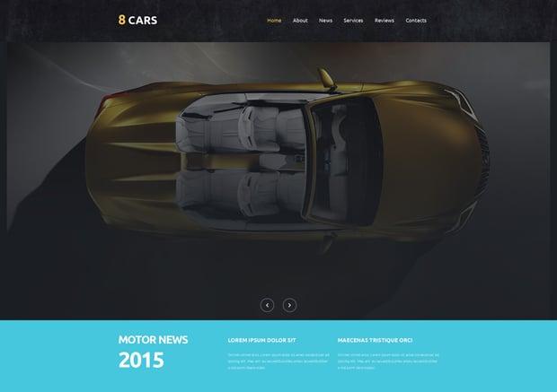MotoCMS 3.0 Responsive Website Templates - Car