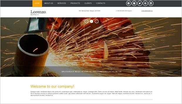 Responsive Website Templates by MotoCMS 3.0 - Industrial