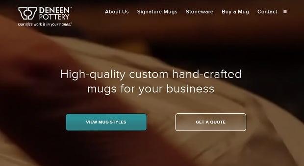 Website Design Mistakes - Deneen Pottery