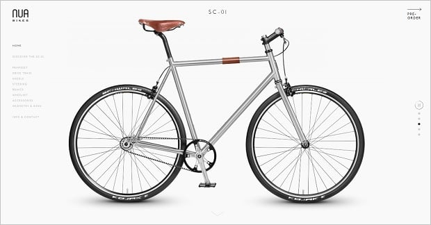 Website Design Mistakes - Nua Bikes