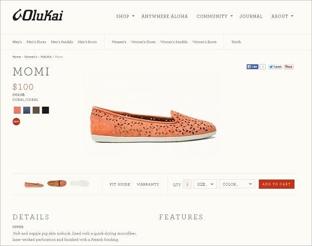 Website Design Mistakes - Olukai