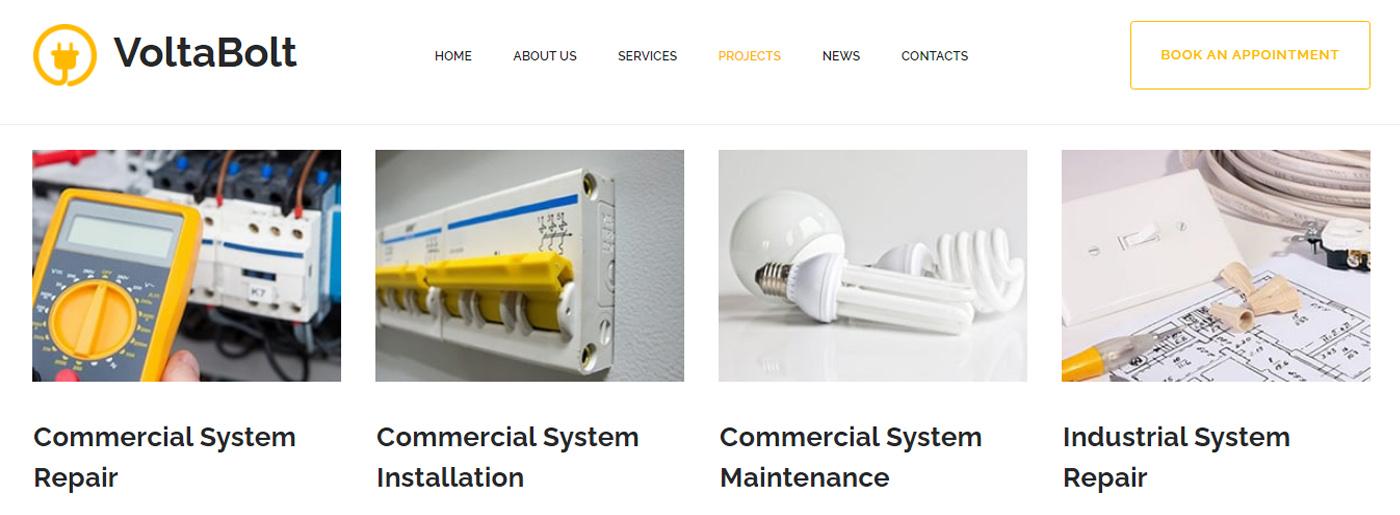 Maintenance Service Company - Electricity Website