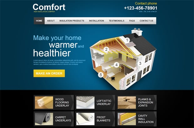 Theme for Making a Website for Yout Maintenance Business