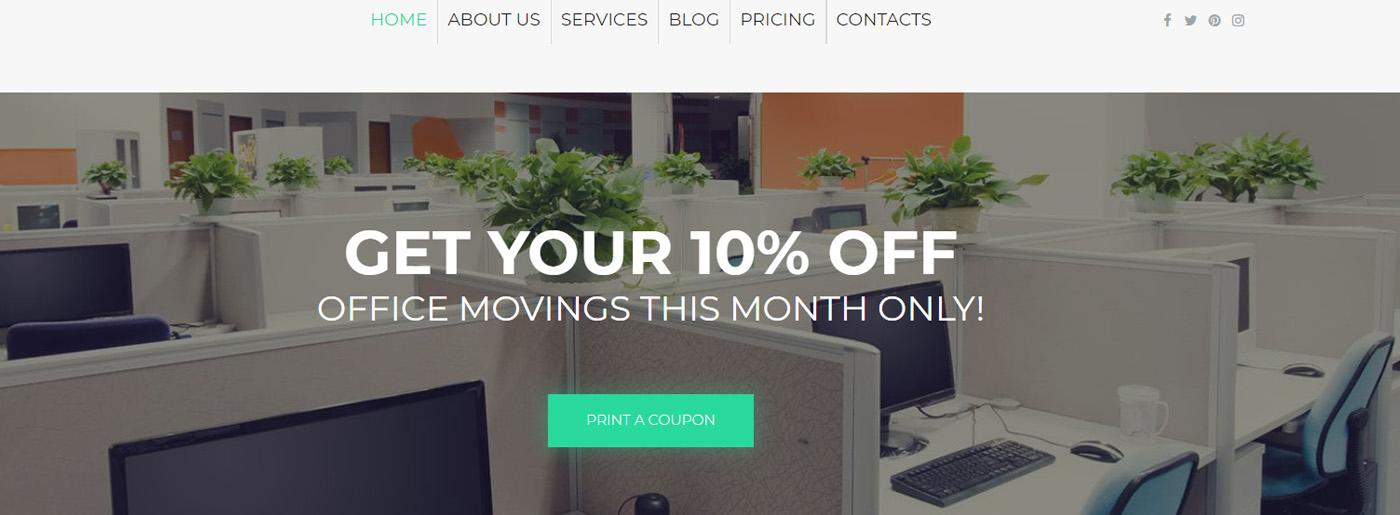 Moving Company Web Template