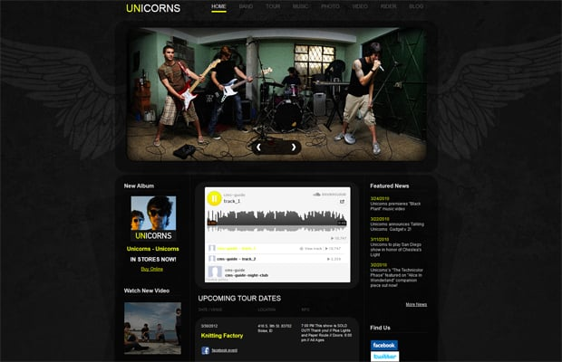 Creative Band Website Design