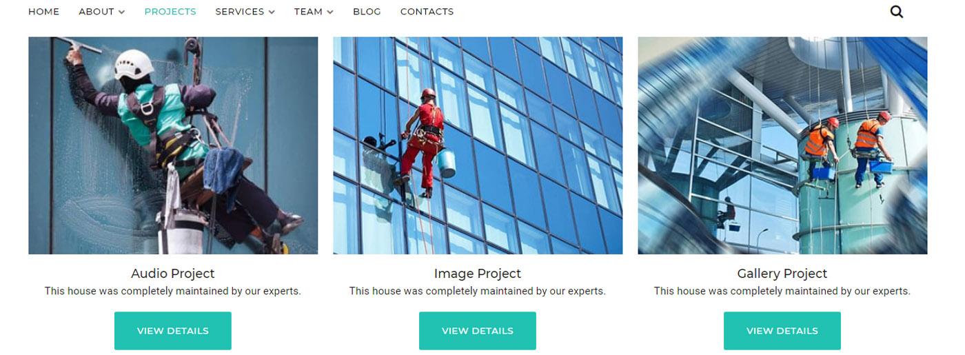 Window Cleaning Website - Maintenance Service Company