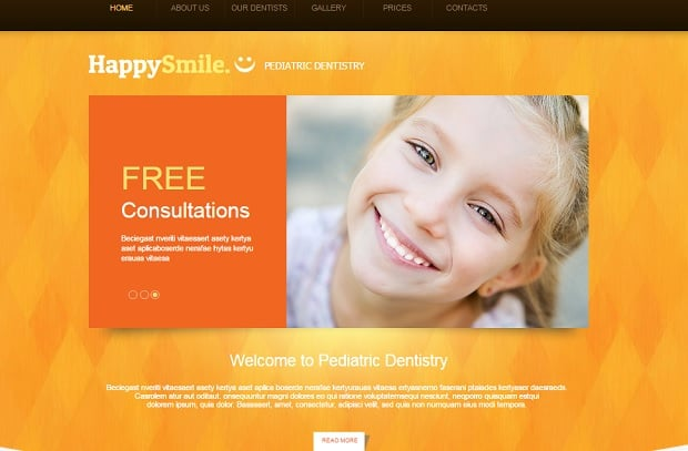 Create a Dental Website - Bright-Colored Website Template