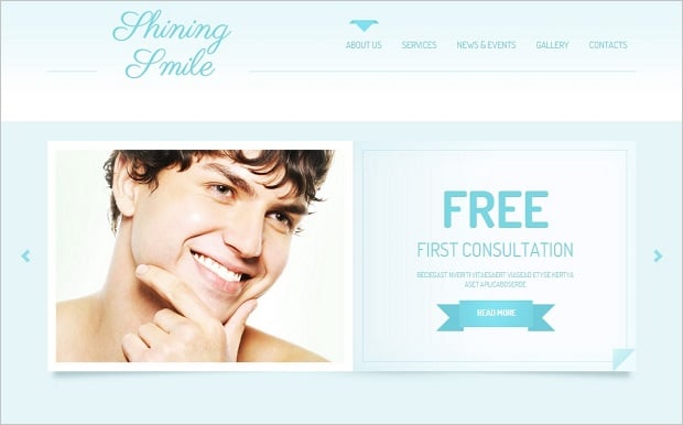 Create a Dental Website - Blue Template