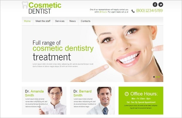 Create a Dental Website - White Template