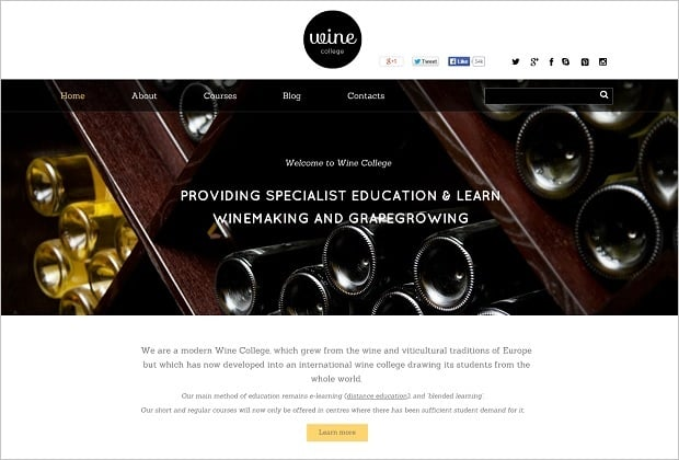 Creating a Startup Website - Wine Business Template