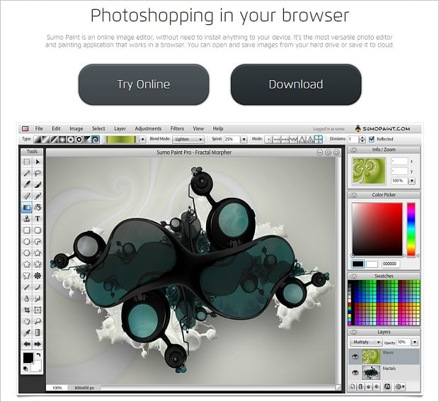 Image Editing Software - Sumopaint