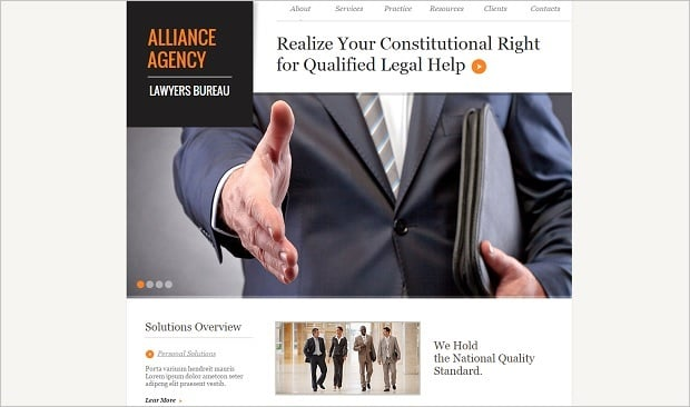 Legal Website Design - Newspaper-Style Web Template for Law Firm