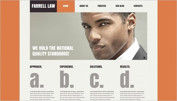 Legal Website Design - Modern Web Template for Lawyer