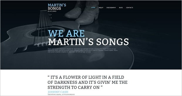 MotoCMS Independence day promo - Music Web Template