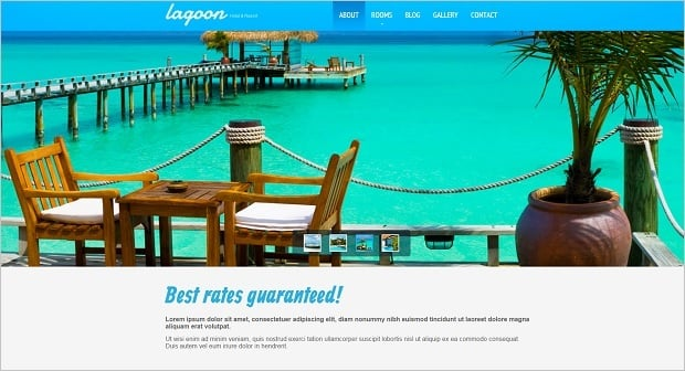 MotoCMS Independence day promo - Hotel Service Web template