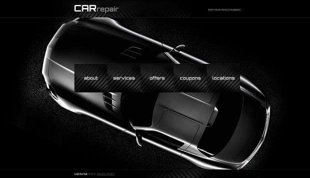 Car Repair Website Templates - center menu