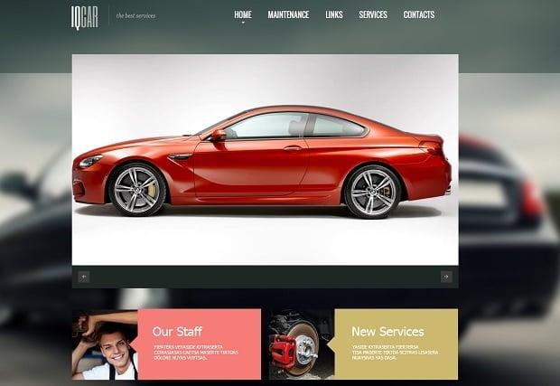 Car Repair Website Templates - metro style