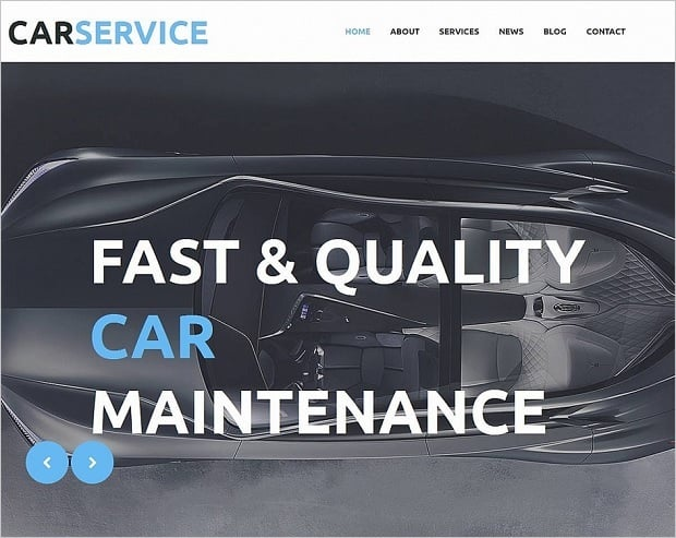 Car Repair Website Templates - grey-colored