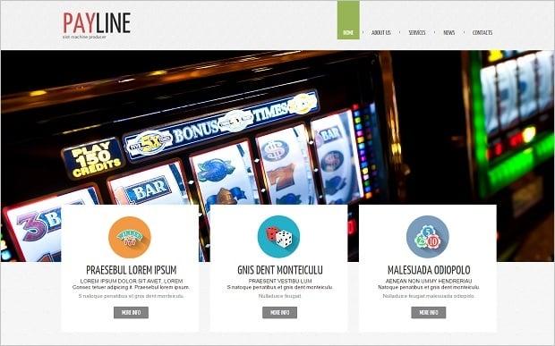 Flat Design vs Material Design - Online Casino template