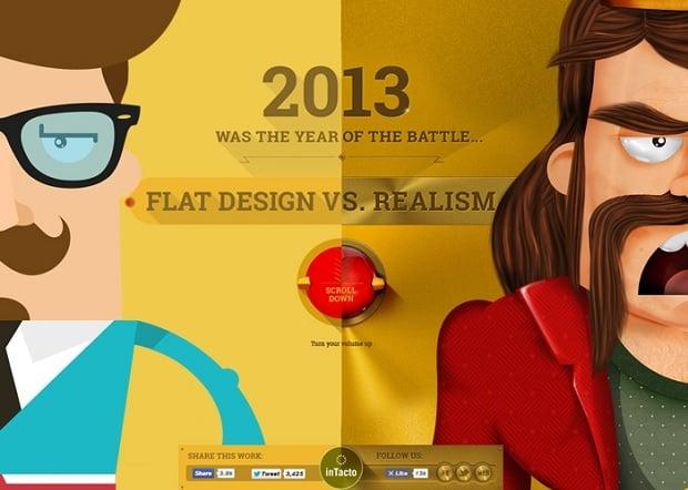 Flat Design vs Material Design - Flat vs realism