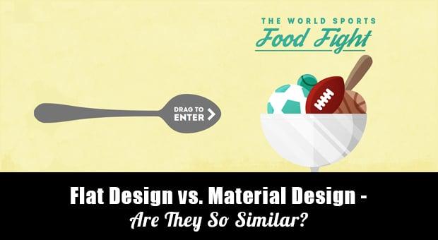 Flat Design vs Material Design - main