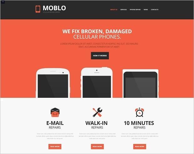 Responsive Design Mistakes - mobile repair template