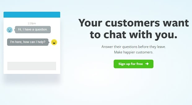 olark - chat widget registration