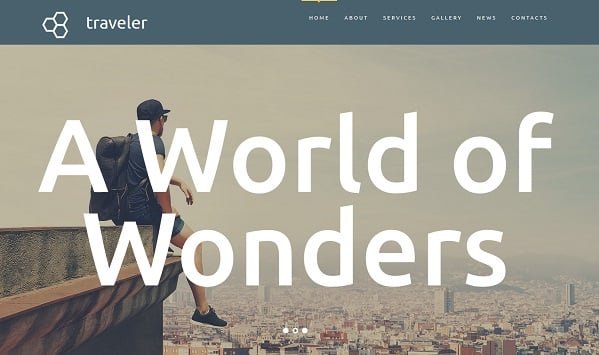 travel website templates - call to action text