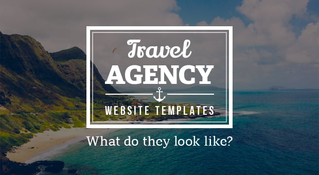 travel agency website templates main image