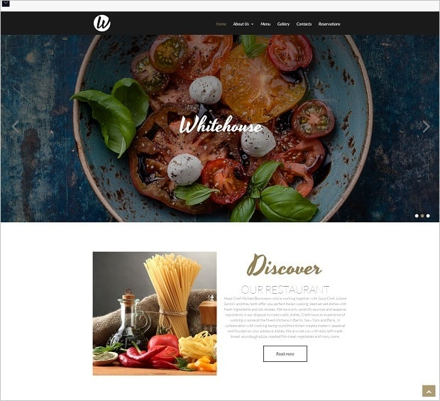 Bestselling website templates summer 2015 - Italian Restaurant