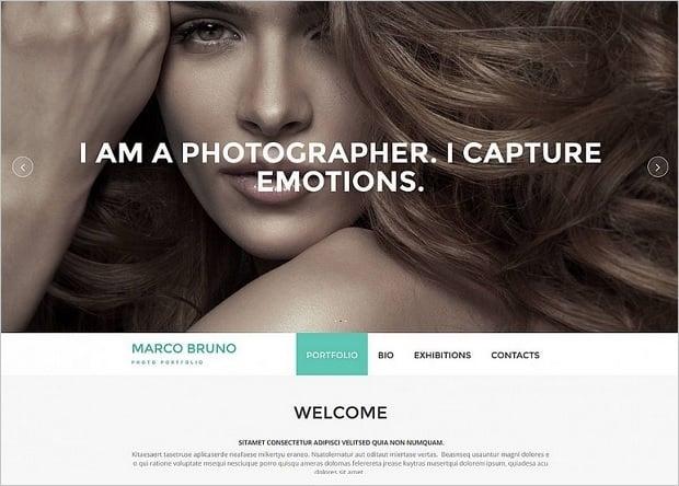 Bestselling website templates summer 2015 - photorgapher website